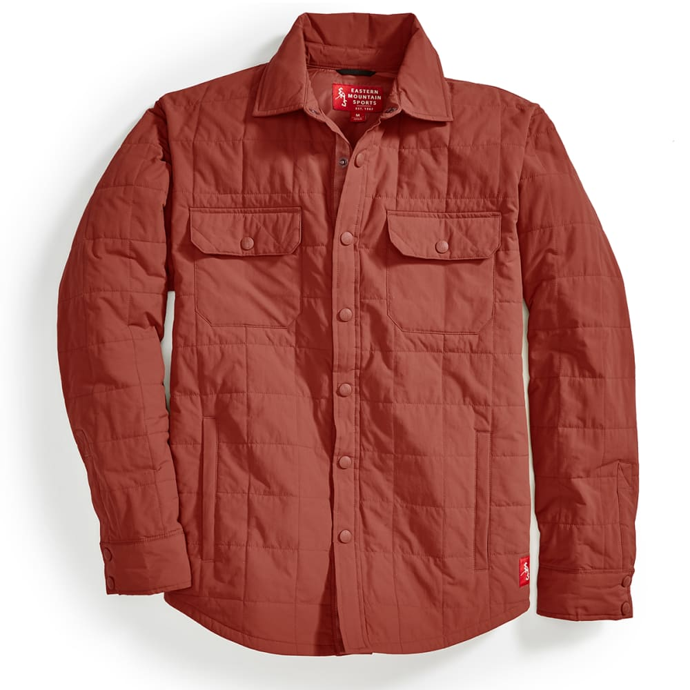 EMS® Men's Adirondack Quilted Shirt Jacket  - RUSSET BROWN