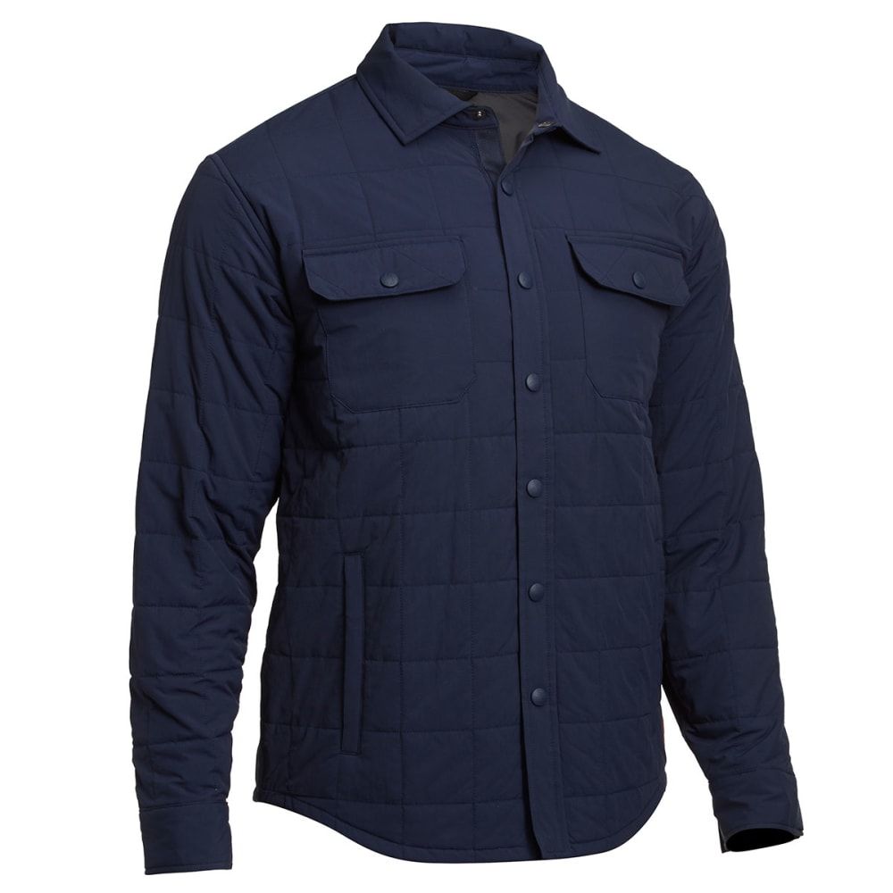 EMS® Men's Adirondack Quilted Shirt Jacket  - NAVY BLAZER