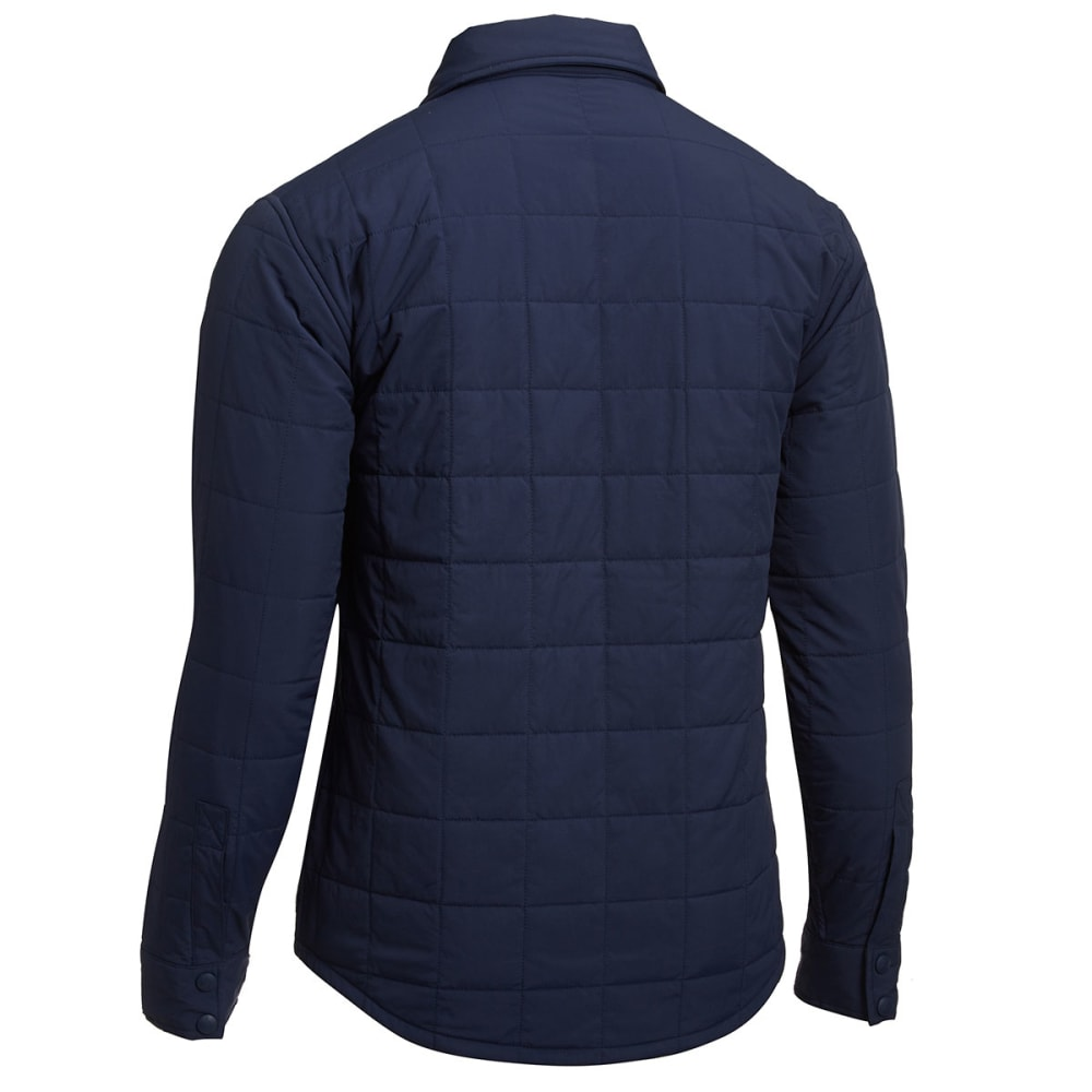 EMS Men's Adirondack Quilted Shirt Jacket - NAVY BLAZER