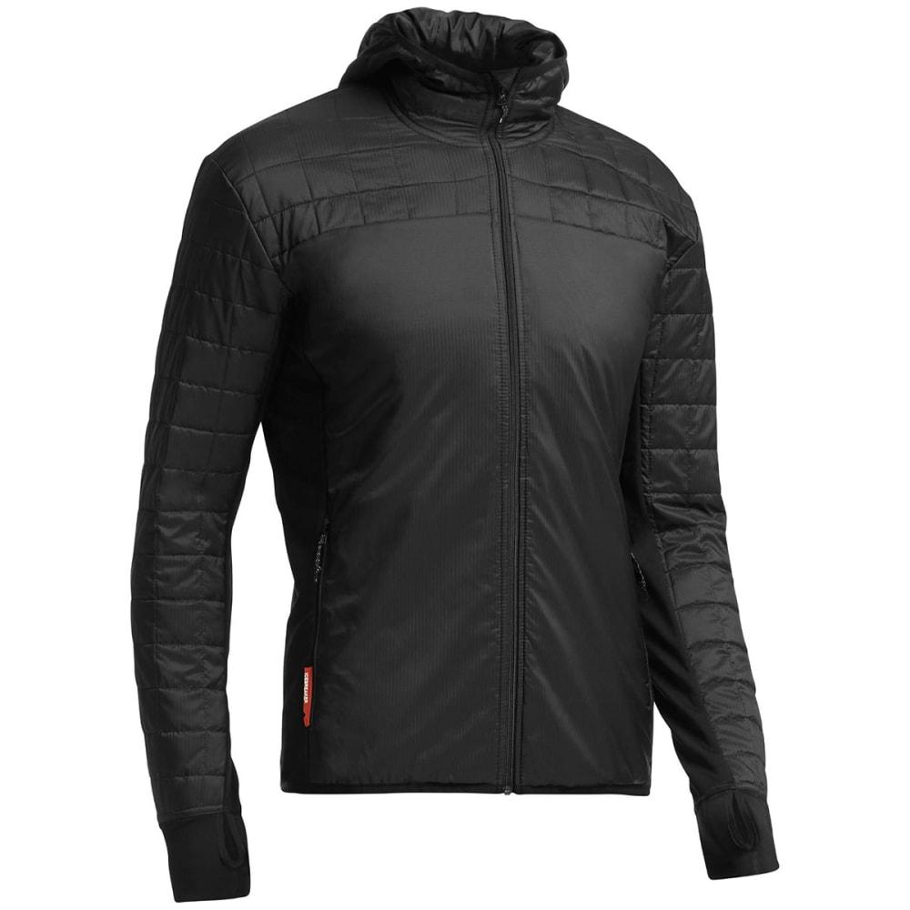 ICEBREAKER Men's Helix Long Sleeve Zip Hood - BLACK/BLACK