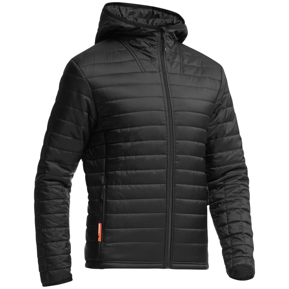 ICEBREAKER Men's Stratus LS Zip Hood - BLACK/ BLACK/ BLACK