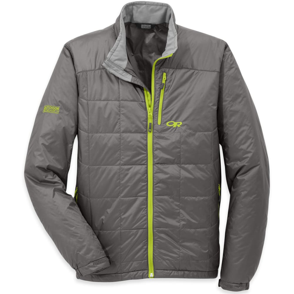 OUTDOOR RESEARCH Men's Neoplume Jacket - PEWTER/LEMONGRASS