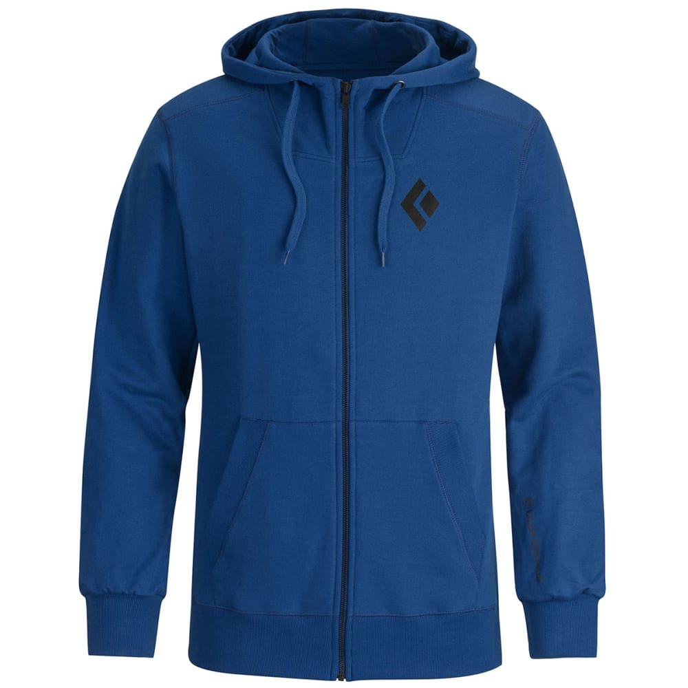 BLACK DIAMOND Men's Full-Zip Logo Hoody - AZURITE
