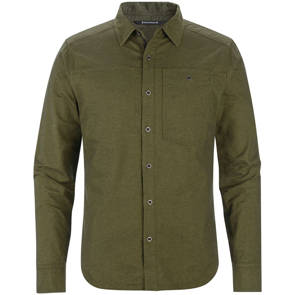BLACK DIAMOND Men's Chambray Modernist Long-Sleeve Shirt - BURNT OLIVE
