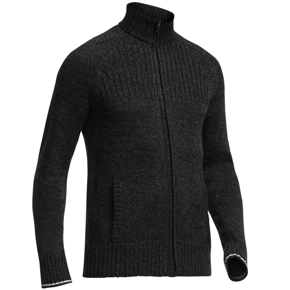 ICEBREAKER Men's Spire Cardigan - BLACK HEATHER