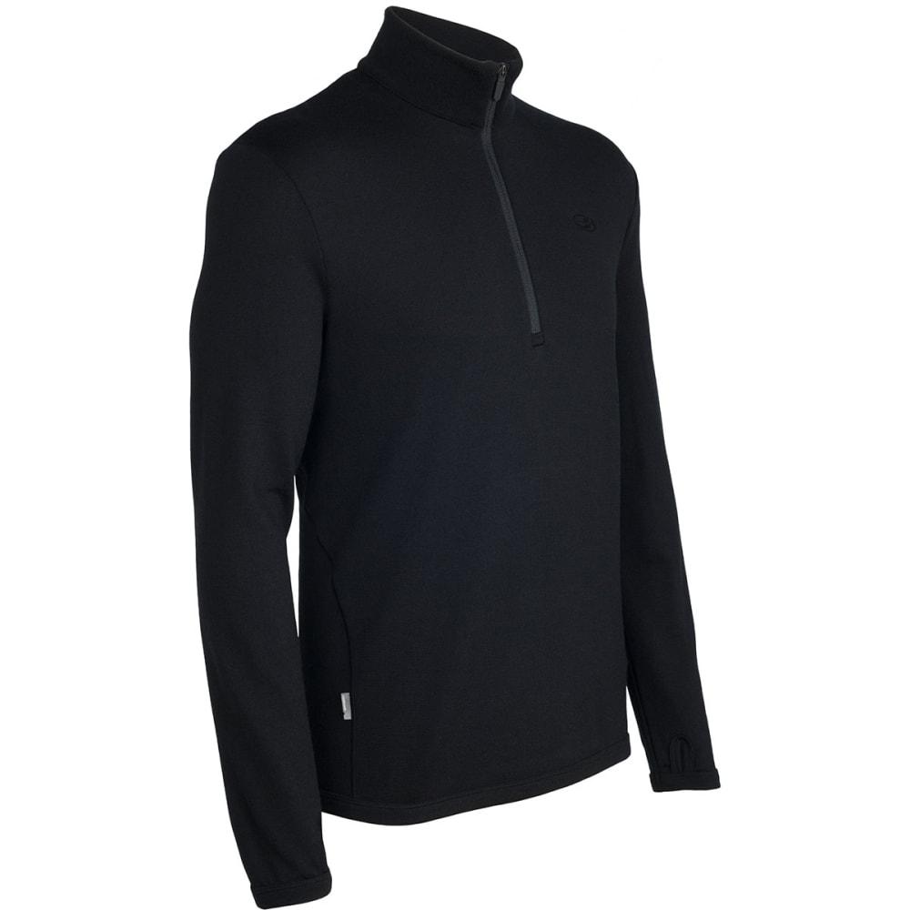 ICEBREAKER Men's Original 1/2 Zip Sweater - BLACK