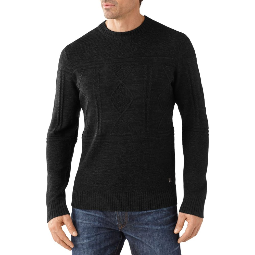 SMARTWOOL Men's Cheyenne Creek Cable Sweater - BLACK