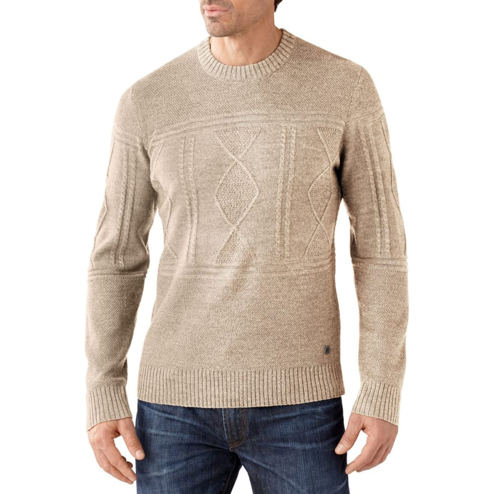 SMARTWOOL Men's Cheyenne Creek Cable Sweater - NATURAL