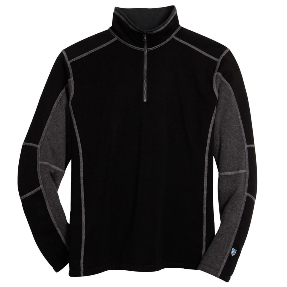 KÜHL Men's Revel ¼ Zip  - BLACK/STEEL