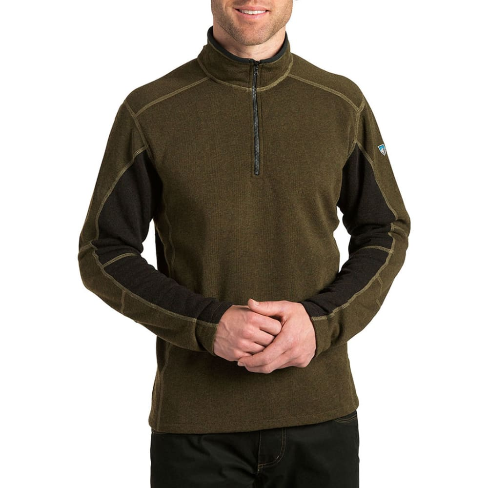 KUHL Men's Revel 1/4 Zip  - CHARCOAL/OLIVE