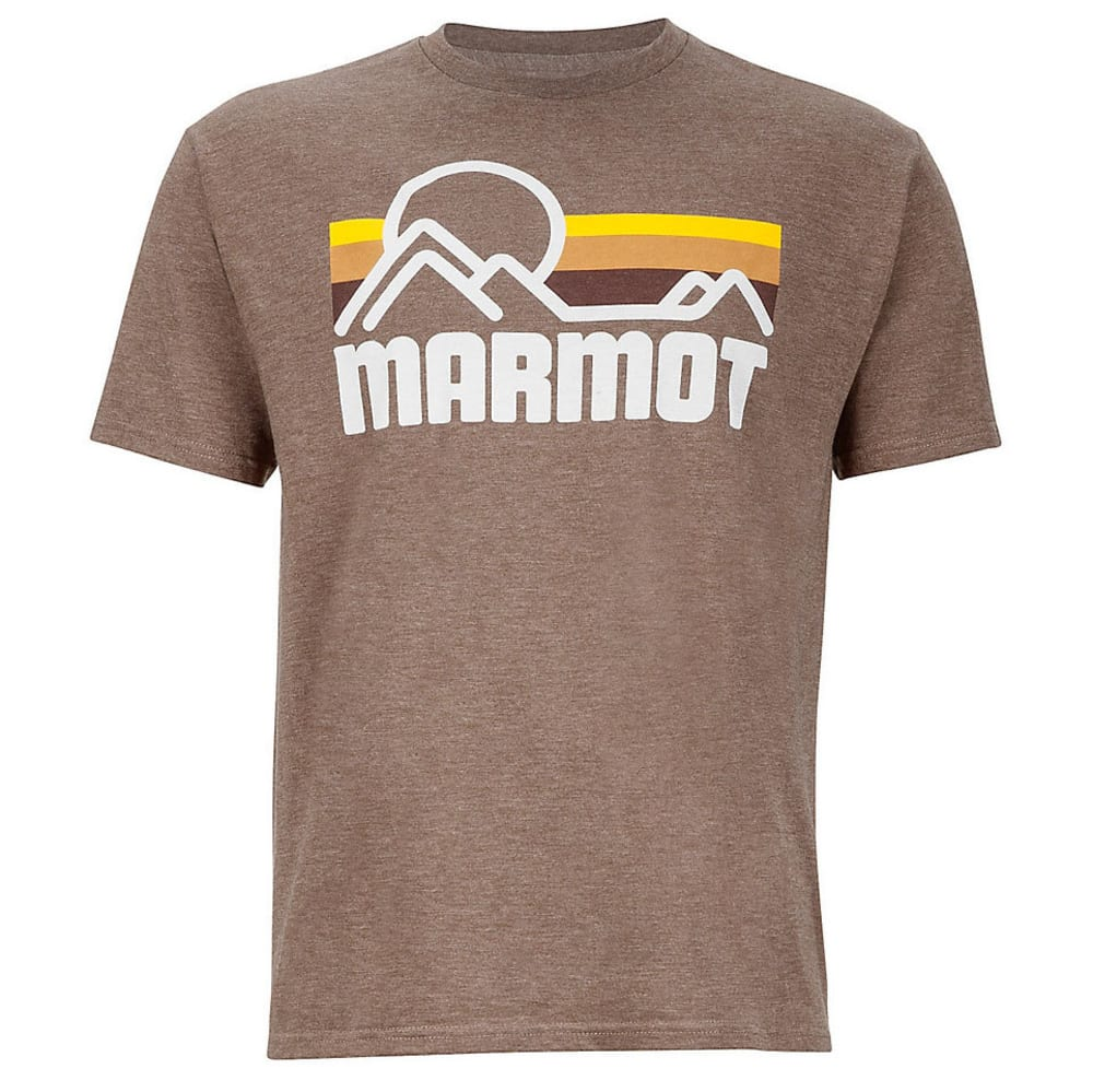 MARMOT Men's Coastal Graphic Tee - 8827-BROWN HEATHER