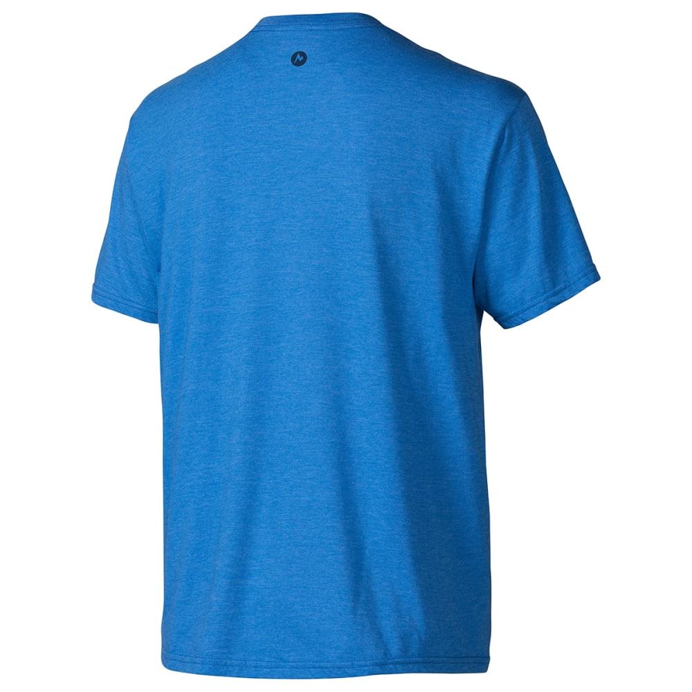 MARMOT Men's Vista T-Shirt, S/S - NAVY HEATHER