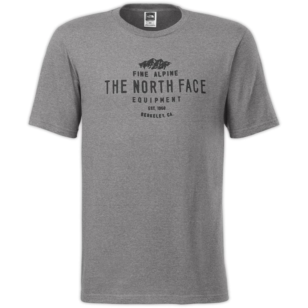 THE NORTH FACE Men's Alpine Stamp T-Shirt, S/S - HEATHER GREY