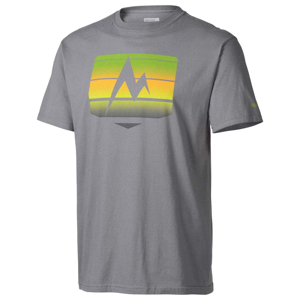 MARMOT Men's Sunrise Stripe Short-Sleeve Tee - CHARCOAL