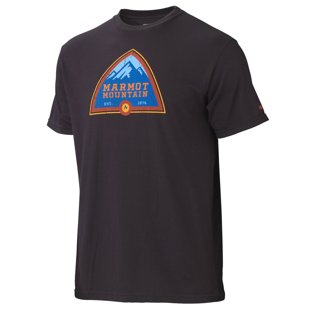 MARMOT Men's Tioga Pass T-Shirt, S/S - BLACK