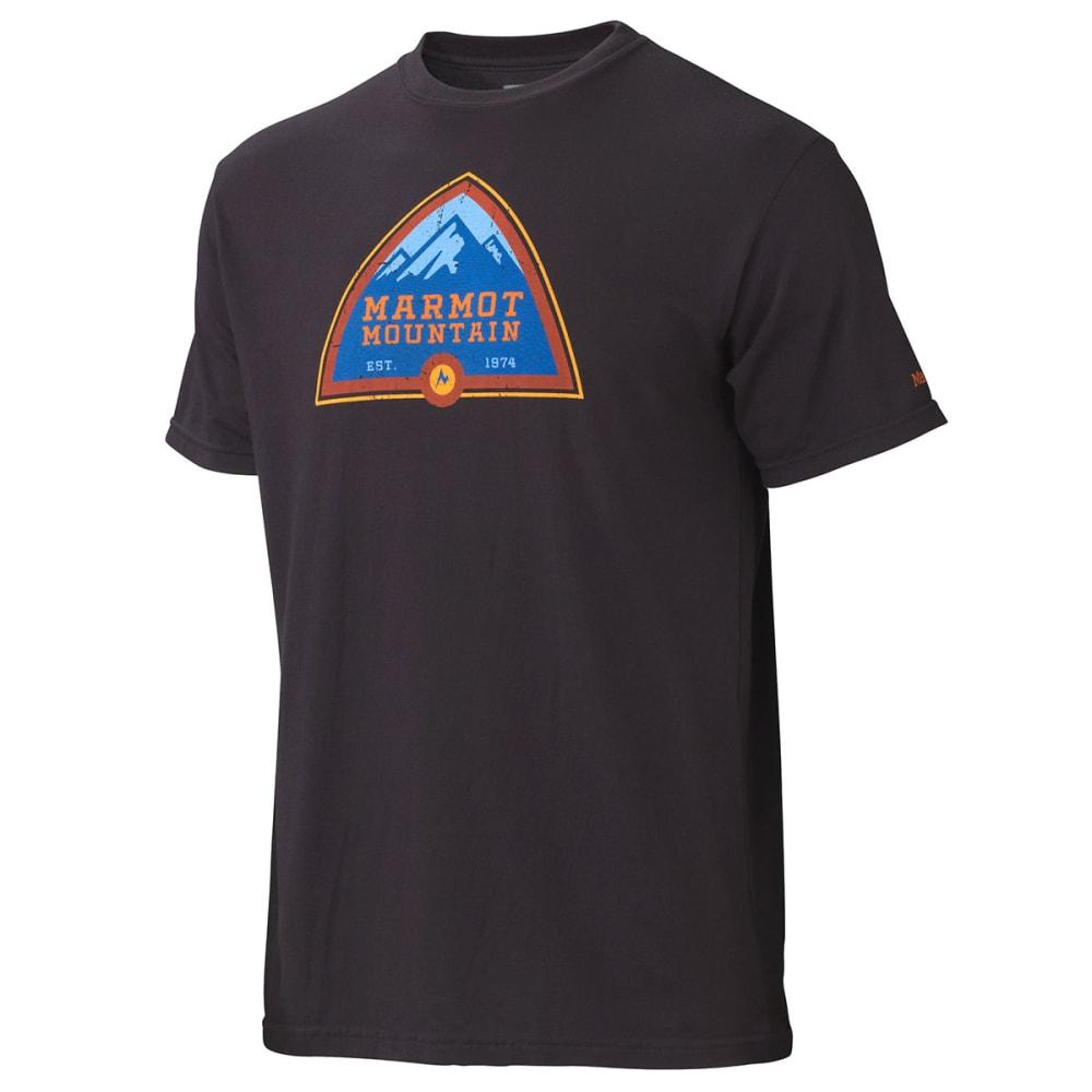 MARMOT Men's Tioga Pass T-Shirt, S/S - BLACK