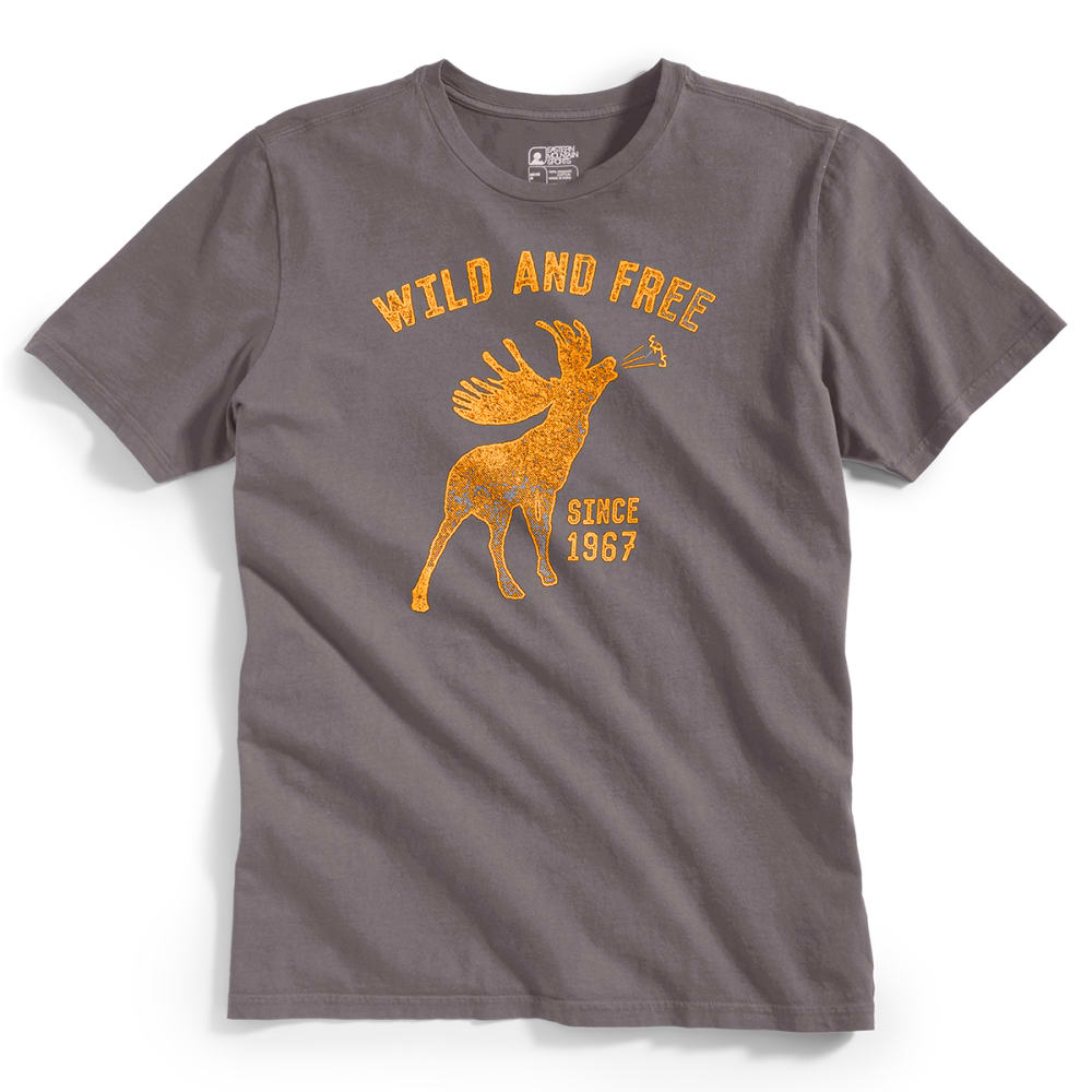 """EMS® Men's """"Wild and Free"""" Graphic Tee - PEWTER"""