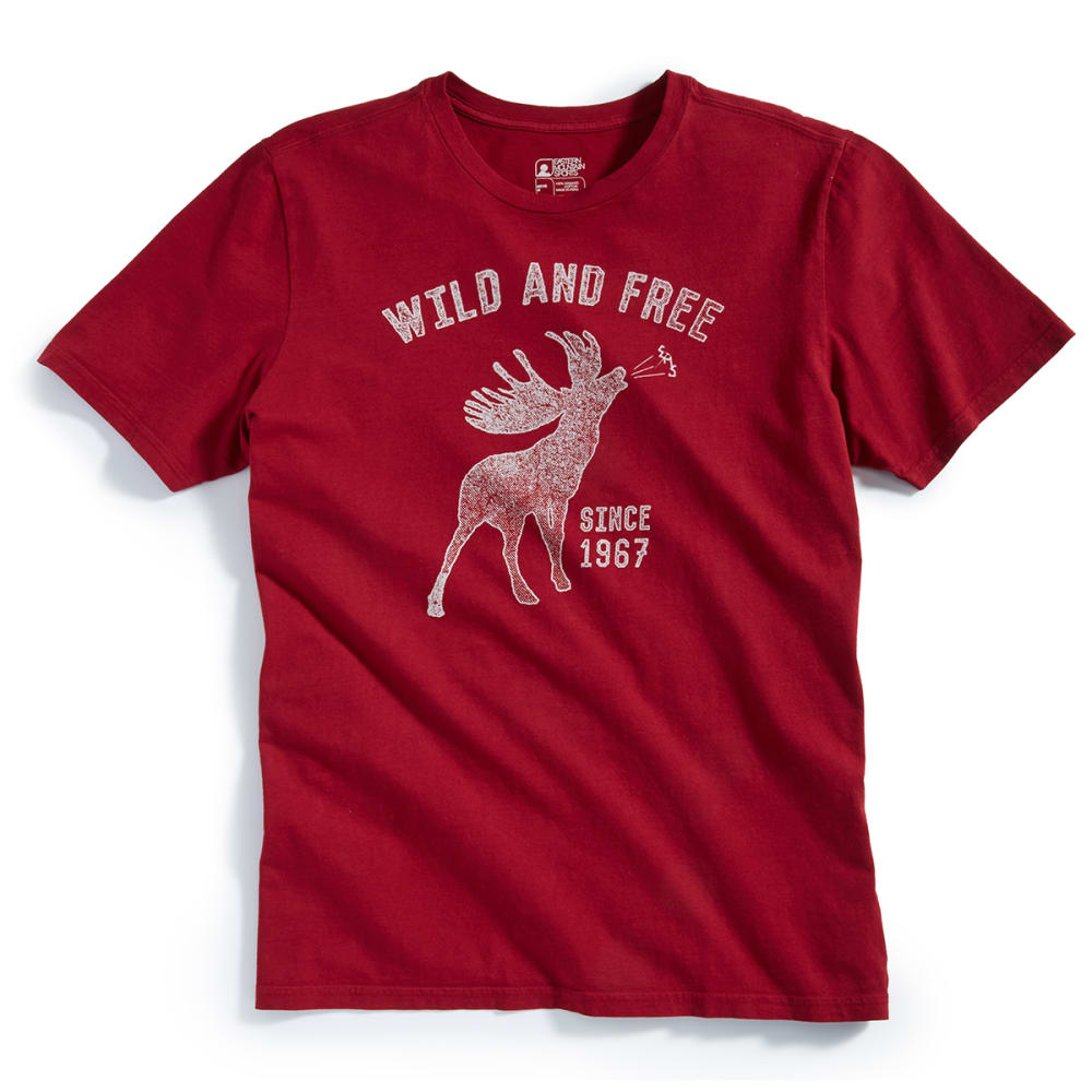 "EMS® Men's ""Wild and Free"" Graphic Tee - BIKING RED"