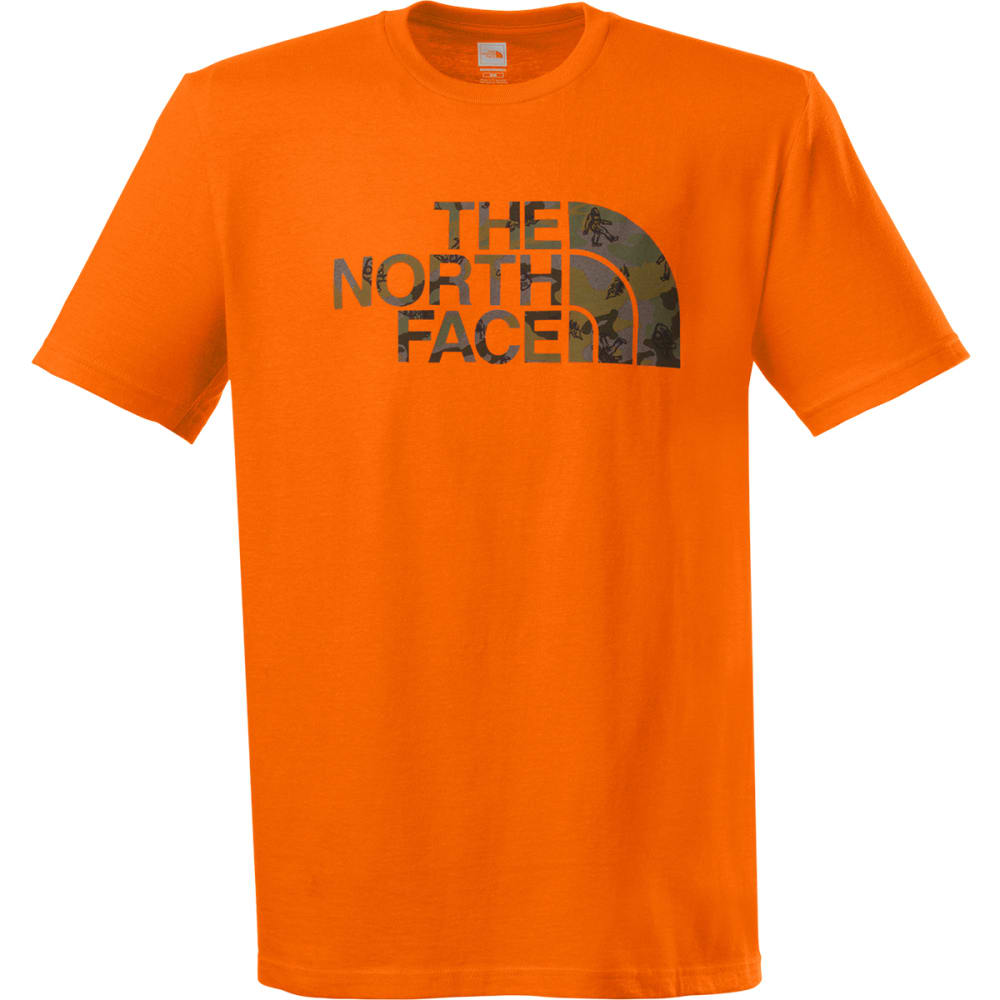 THE NORTH FACE Men's Wander Camo Tee - BURNISHED ORANGE
