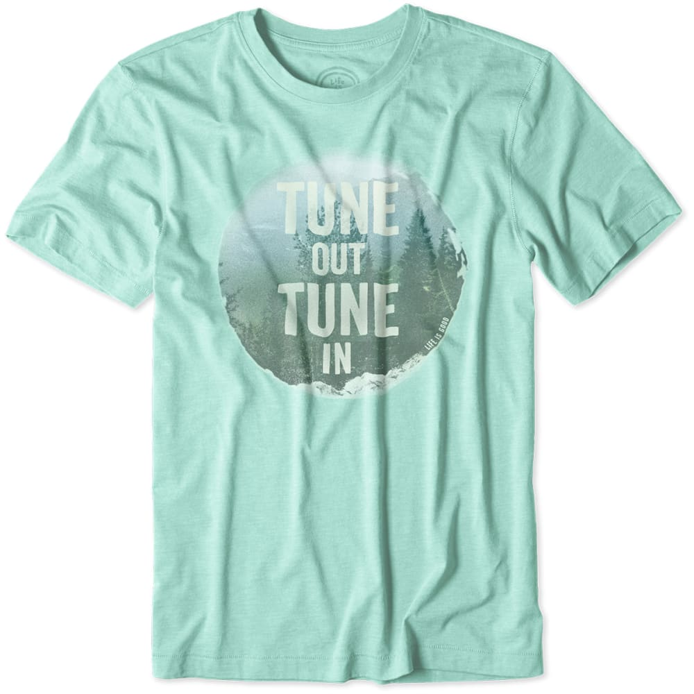 LIFE IS GOOD Men's Tune out Tune in Cool Tee - TEAL