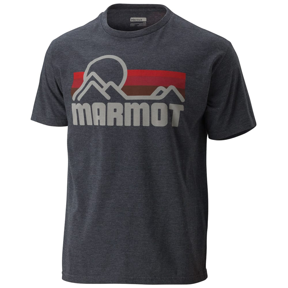 Marmot Mens Marmot Coastal Short Sleeve Tee - CHARCOAL