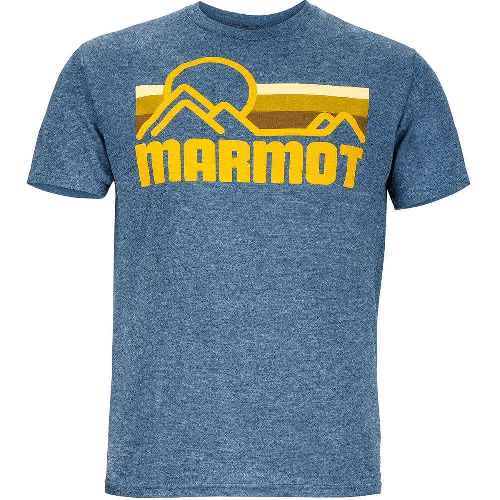 Marmot Mens Marmot Coastal Short Sleeve Tee - NAVY HEATHER