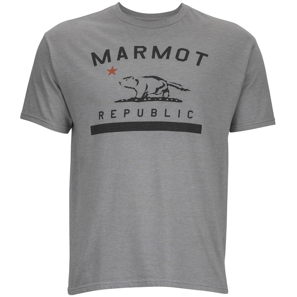 MARMOT Men's Marmot Republic Short Sleeve Tee - ATHLETIC GREY HEATHE