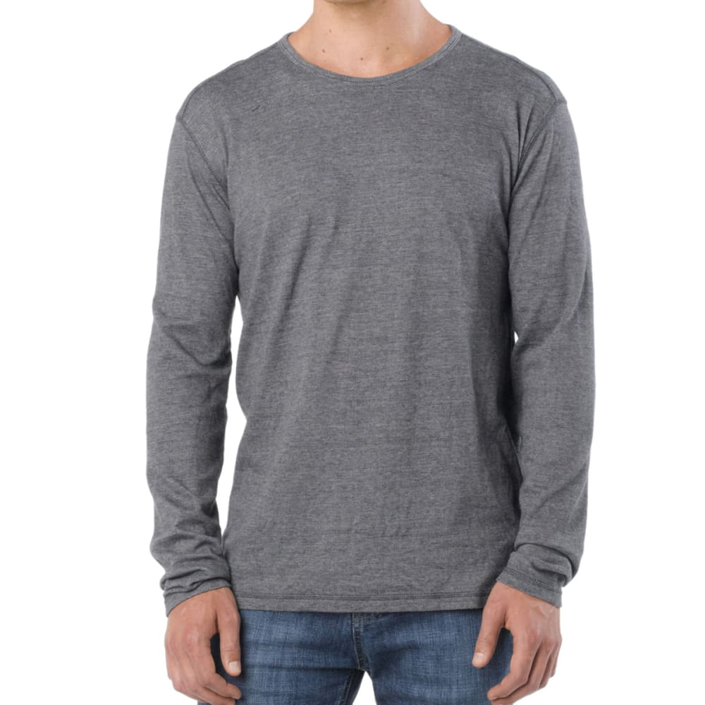 PRANA Men's Keller Crew, L/S - GREY
