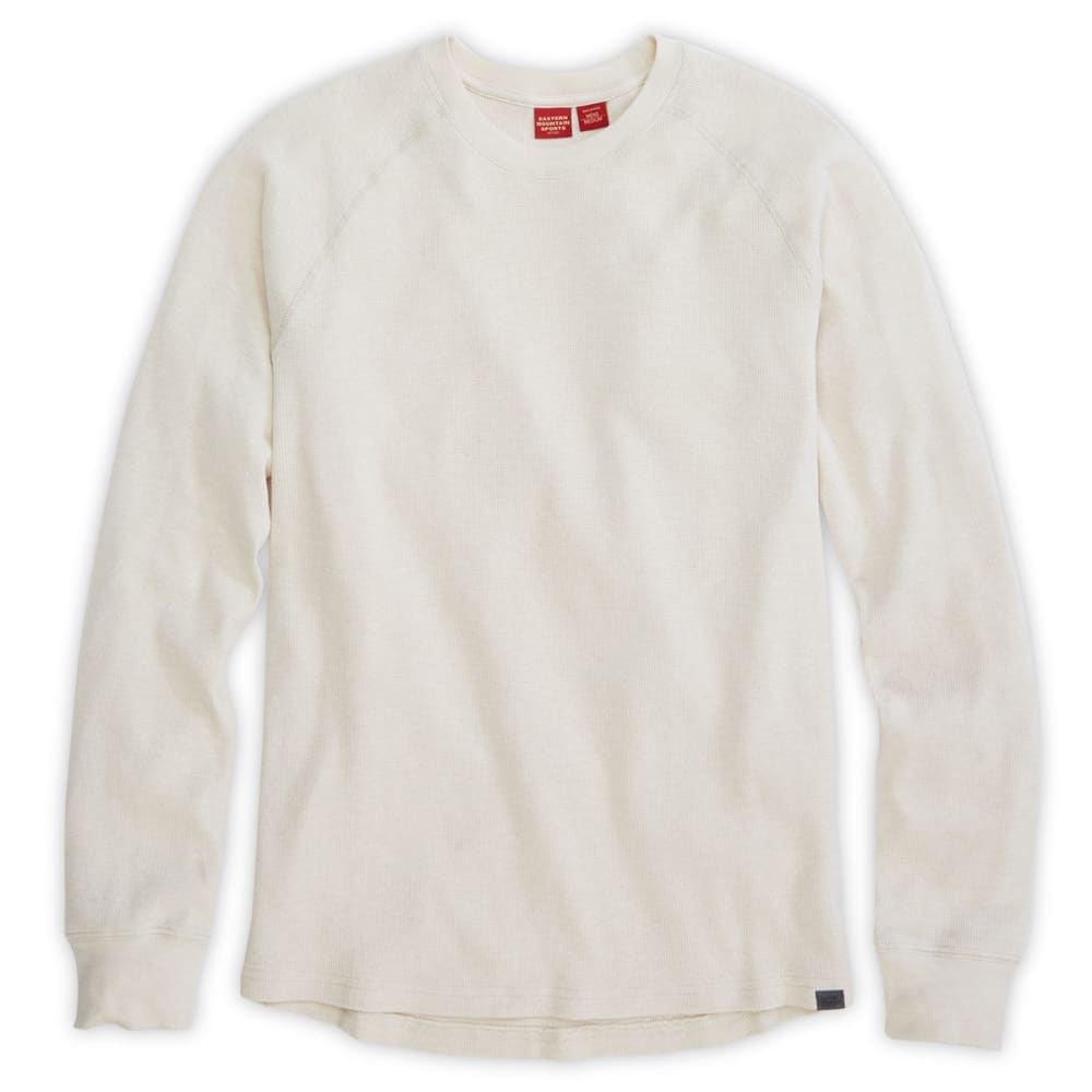 Ems Mens Balsam Waffle Long-Sleeve Crew - White - Size S F14M0205
