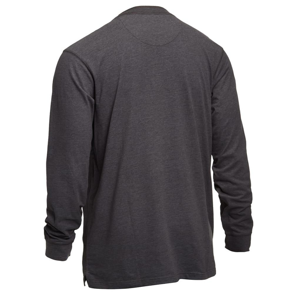 EMS® Men's Sueded Crewneck Shirt - CHARCOAL