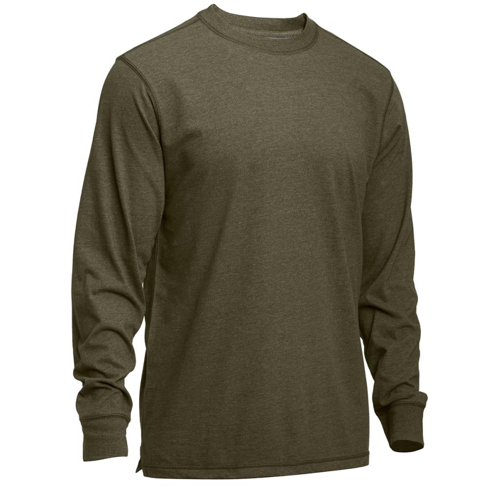 EMS® Men's Sueded Crewneck Shirt - DARK GREEN