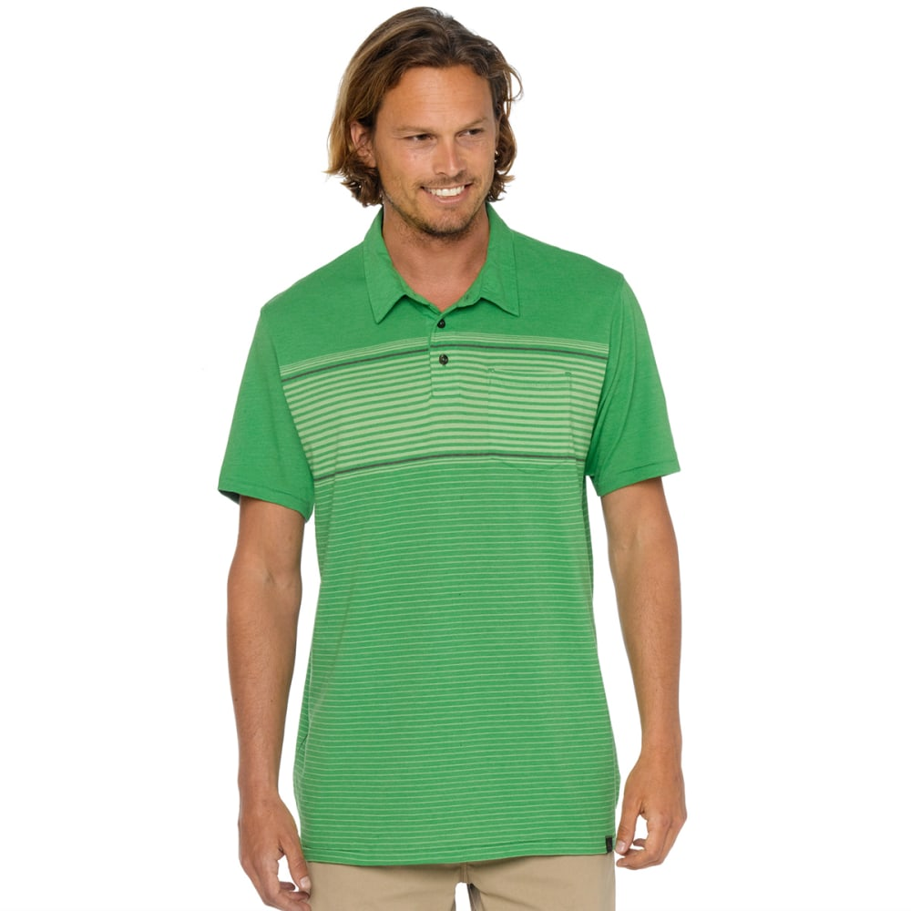 PRANA Men's Marco Polo Shirt, S/S - SEAWEED
