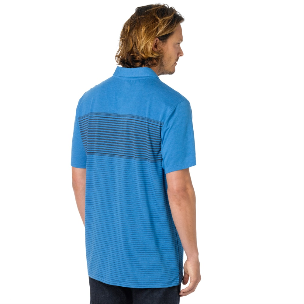 PRANA Men's Marco Polo Shirt, S/S - DANUBE BLUE