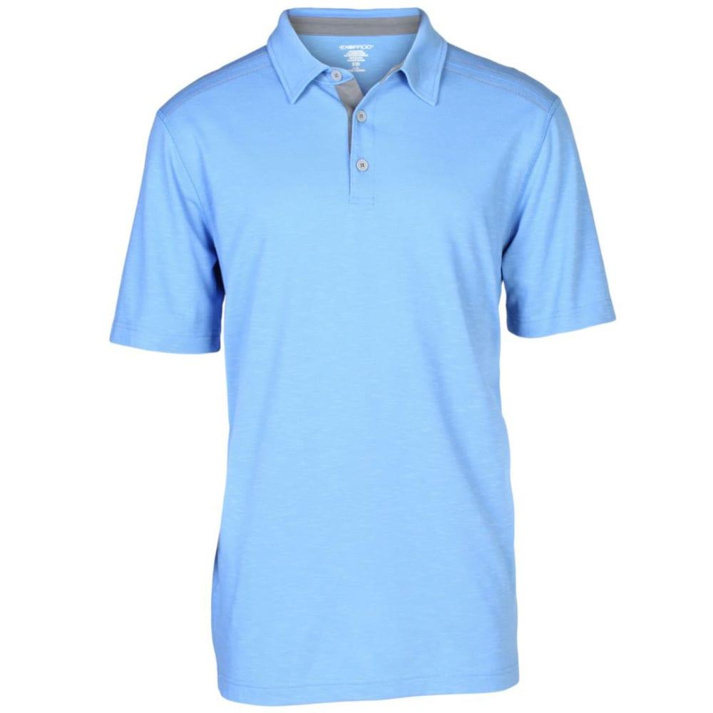 EXOFFICIO Men's Techspresso Polo  - CAYMAN BLUE