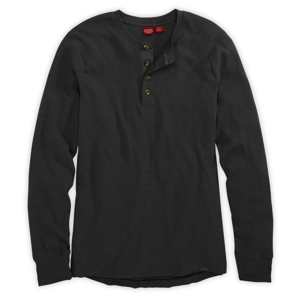 EMS® Men's Balsam Waffle Henley  - JET BLACK
