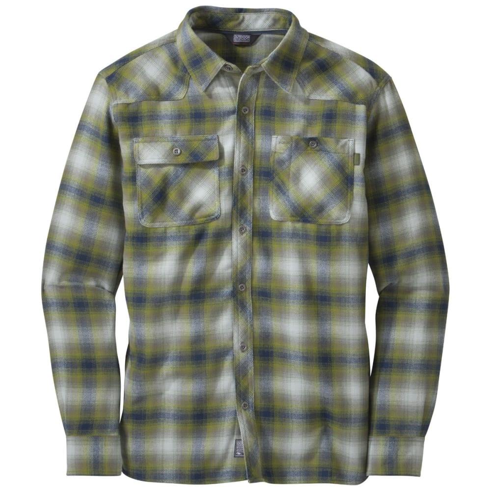 OUTDOOR RESEARCH Men's Feedback Flannel Shirt - NIGHT/HOPS
