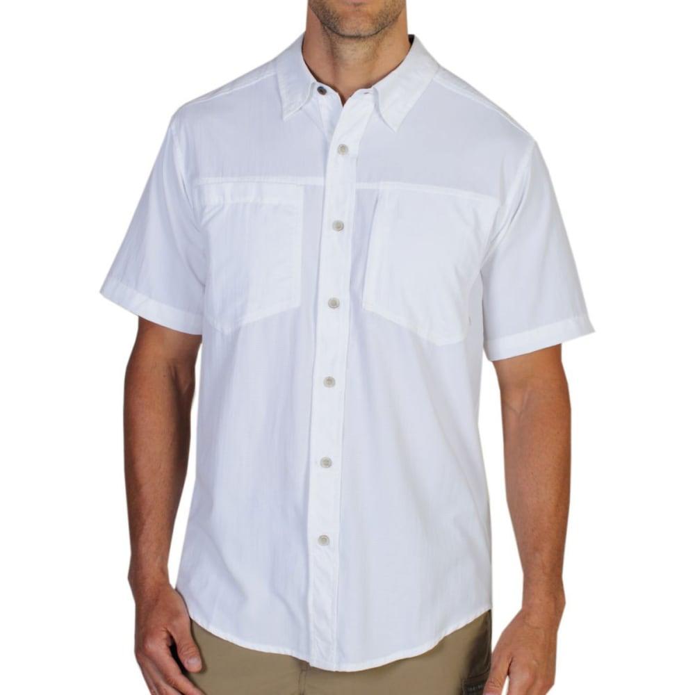 EXOFFICIO Men's GeoTrek'r Shirt, S/S  - WHITE