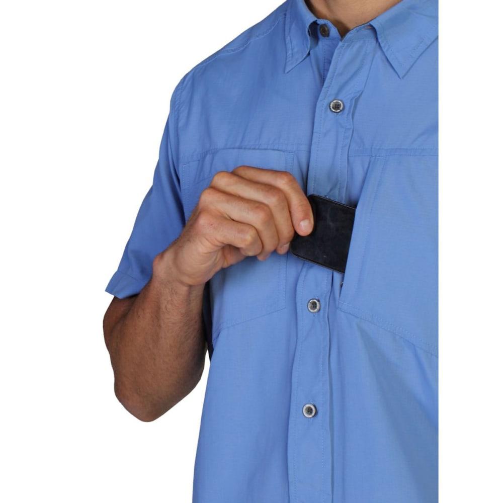 EXOFFICIO Men's GeoTrek'r Shirt, S/S  - CAYMAN BLUE