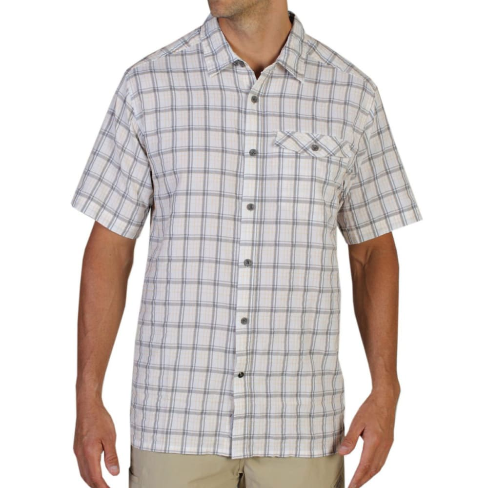 EXOFFICIO Men's Quadrant Plaid Shirt, S/S   - WHITE