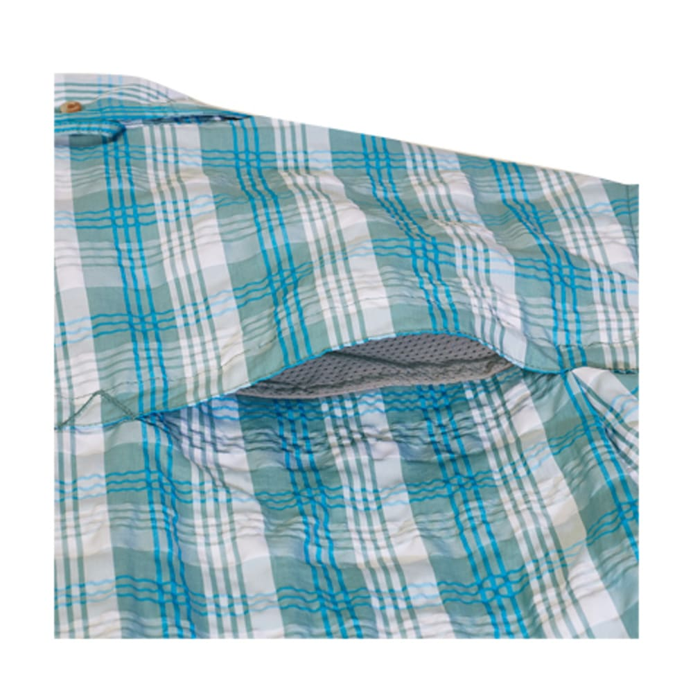 EMS Men's Journey Plaid Short-Sleeve Shirt - MINERAL BLUE