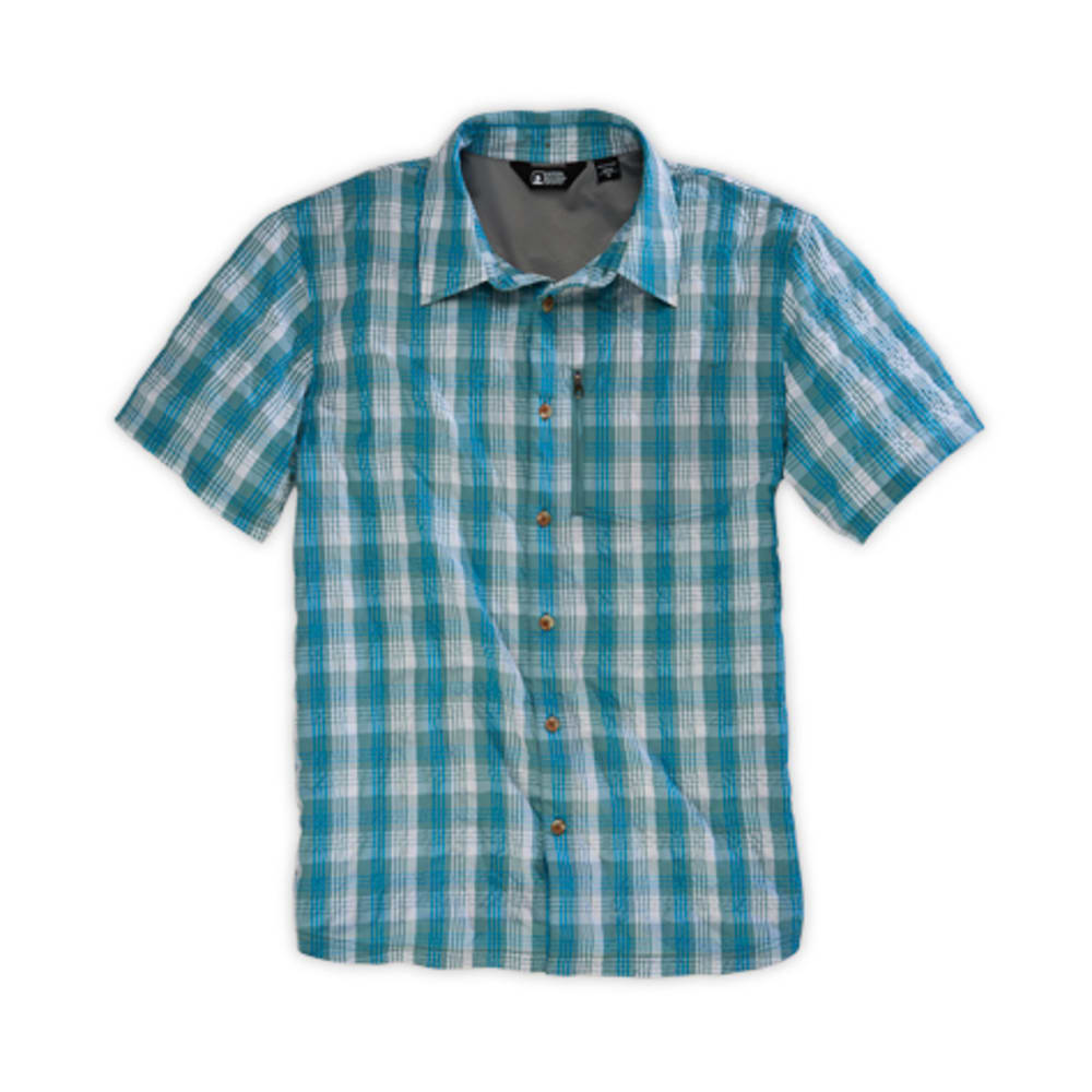 EMS® Men's Journey Plaid Short-Sleeve Shirt - MINERAL BLUE