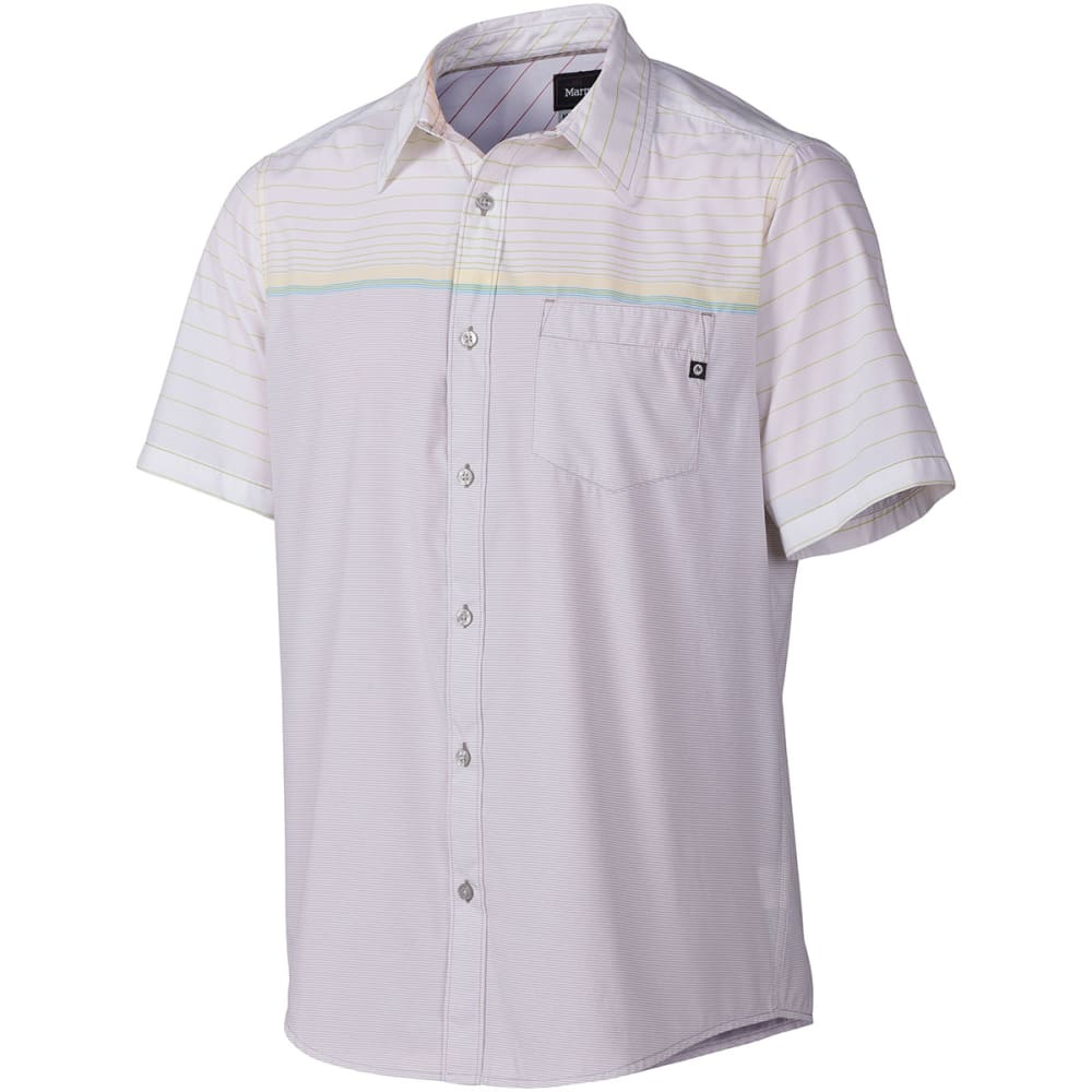 MARMOT Men's Hamilton Short-Sleeve  Shirt - STEEL GREY