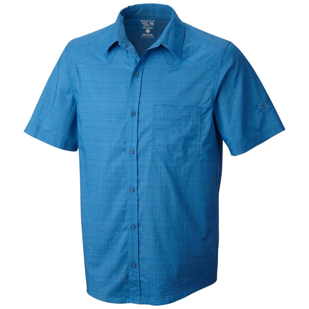 db711e33 MOUNTAIN HARDWEAR Men's McLane Short-Sleeve Shirt - BLUE