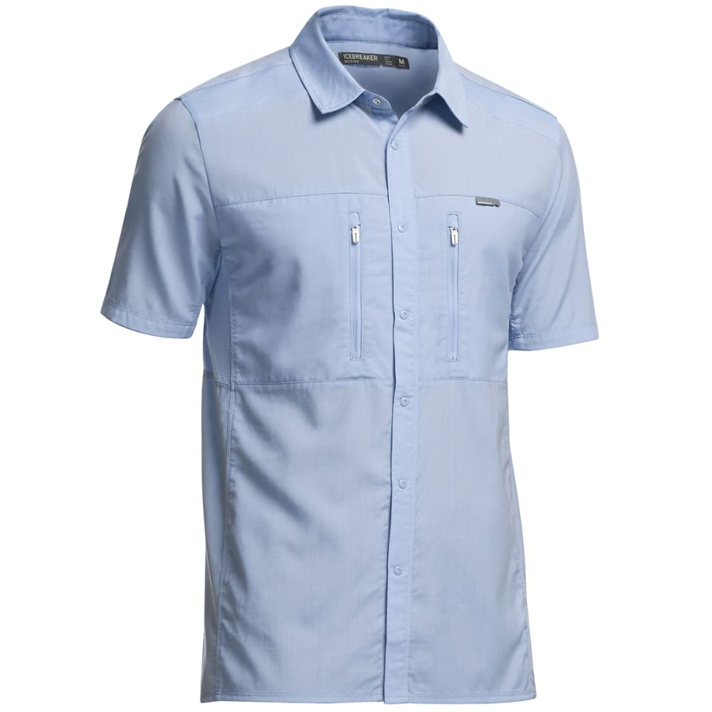 ICEBREAKER Men's Oreti Short-Sleeve Shirt - BROOK