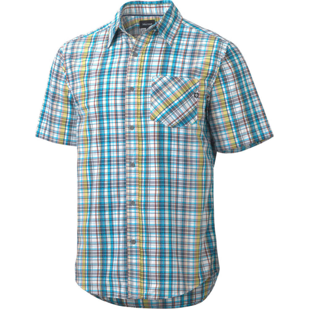 MARMOT Men's Mitchell Shirt, S/S - CRYSTAL BLUE