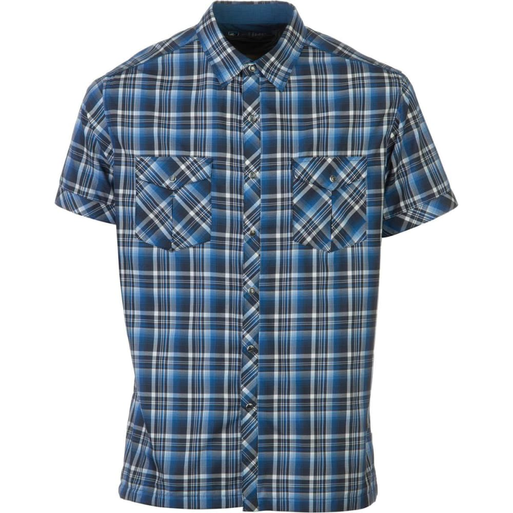 KÜHL Men's Konquer Short-Sleeve Shirt   - BLUE