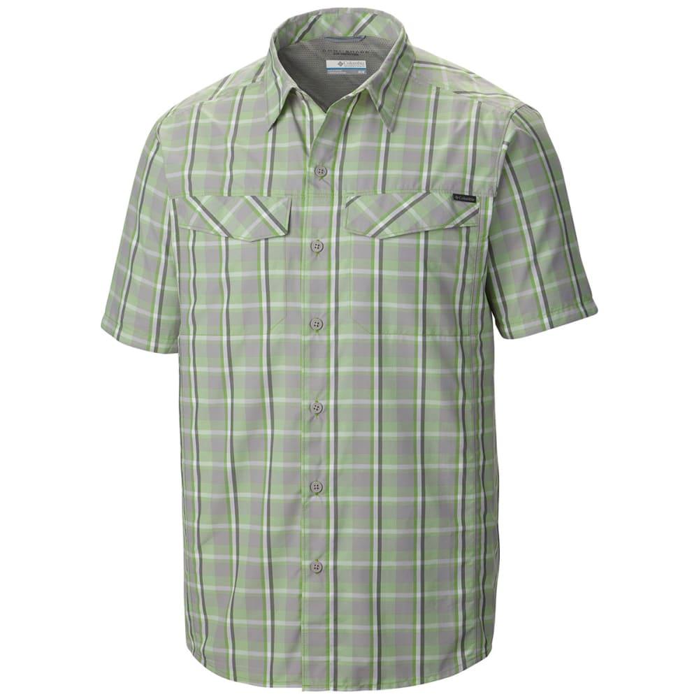 COLUMBIA Men's Silver Ridge   Multi Plaid Short-Sleeve Shirt - 004-COLUMBIA GREY
