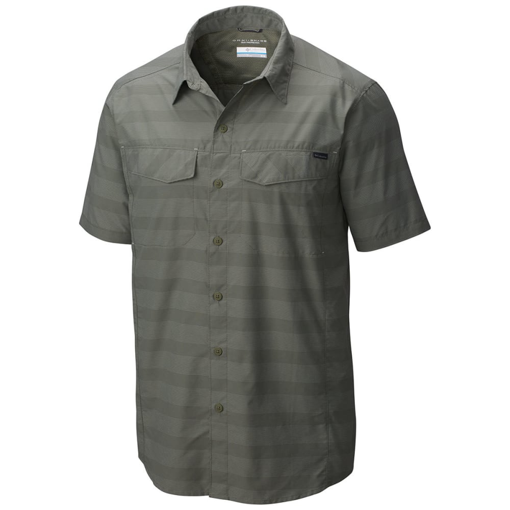 COLUMBIA Men's Silver Ridge   Multi Plaid Short-Sleeve Shirt - 316-CYPRESS STRIPE