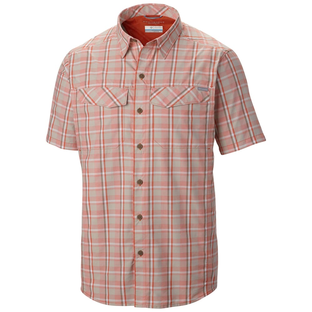 COLUMBIA Men's Silver Ridge   Multi Plaid Short-Sleeve Shirt - BACKCOUNTRY ORANGE