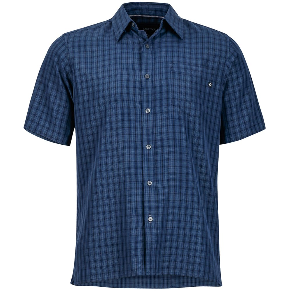 MARMOT Men's Eldridge Short-Sleeve Button Up - VINTAGE NAVY